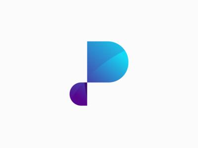 Letter P 3D Logo