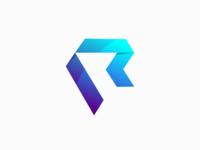 Letter R 3D Logo