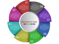 Infographic Template with 8 option