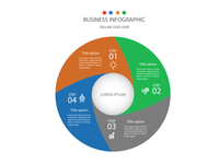 Infographic template with circle model