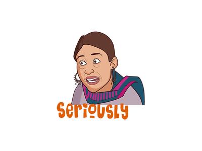 Cartoon Woman Sticker Set
