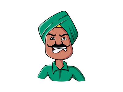Cartoon Angry Man Sticker