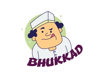 Hungry Man Sticker Design