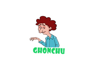 Cartoon Man Sticker Design