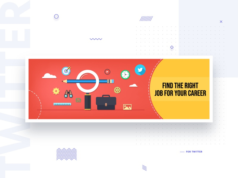 H.U.H Banner for Twitter uiux uitrends interaction design digital design minimal material design user experience illustration find job cover artwork cover design banner design flat design dailyui ux ui cover twitter design banner