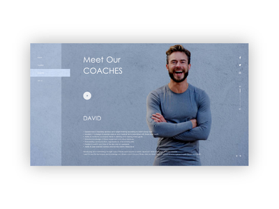 Gym Web Design blue coaches david gym webdesign web