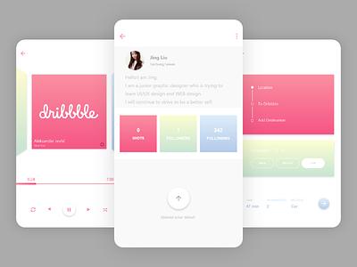 Hello Dribbble! I'm Jing. app ui firstshot dribbble debut