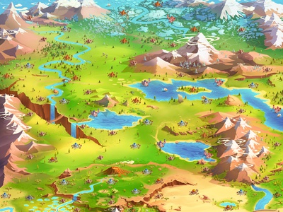 Game map isometric art environment mobile games game map design concept art fantasy art digital art digital 2d illustration