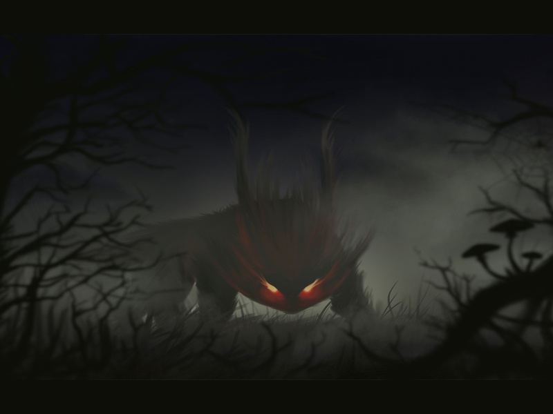 Night hunter gameart art cartoon character beasts creature digital 2d fantasy digital art envoirnment character design illustration