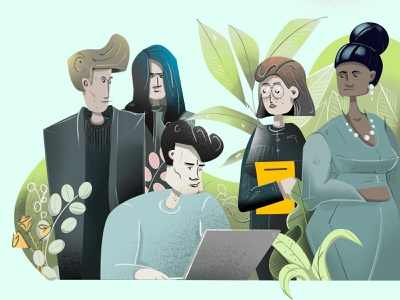 characters characters work plant nature body humans person design simple clean illustration illustrator characterdesign character