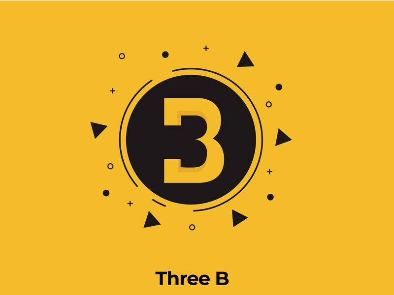 Three B - Logo Design web icon vector app branding ux ui typography illustration logo logo design