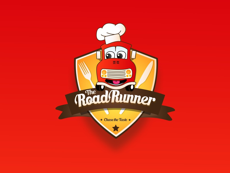 The RoadRunner - Logo restaurant logo foodtruck hotel restaurant taste food truck design vector logo logo design illustration branding