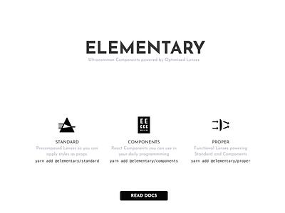 Elementary simple open source github landing black  white