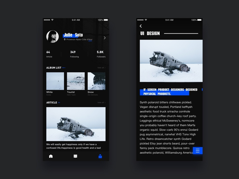 Article personalized news iphonex ios mobile app colors calendar article social app