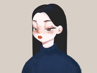 Girl beautiful girl girl personnal design illustration colorful image