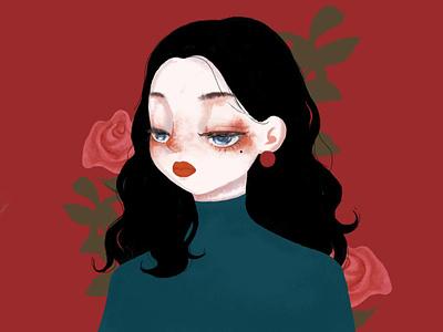 Girl image colorful illustration design personnal girl beautiful girl