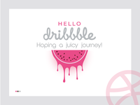 Hello Dribbble- Expecting a juicy journey!