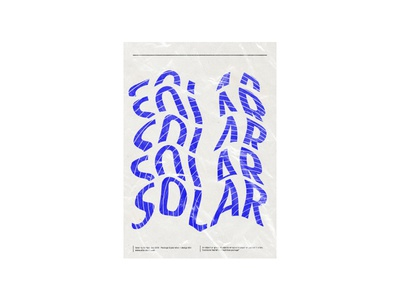 solar lettering ux ui packaging package design design branding type posters elwips typography typographic swiss print design poster design poster graphic design