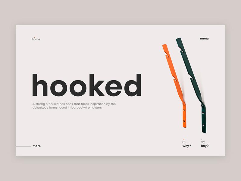 hooked swiss design graphic design typographic web  design ui
