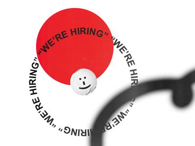happy hire print design elwips typography typographic graphic design design