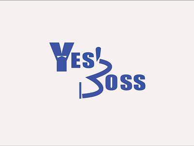 Yes Boss Logo logo branding design letter logo illustration bbaria design business logo banding design logo design