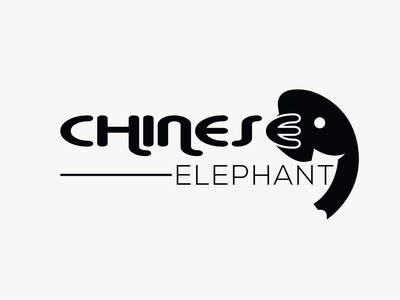 Chinese Elephant Logo branding graphic design logo elephant logo design elephant logo china logo logo china business logo banding design logo design