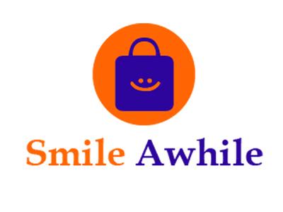 Smile Awhile Logo bag logo store logo shop logo business logo identity design banding design logo design illustration unique design logo design