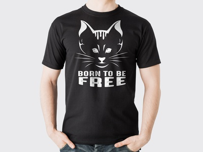 BORN TO BE FREE - T-SHIRT