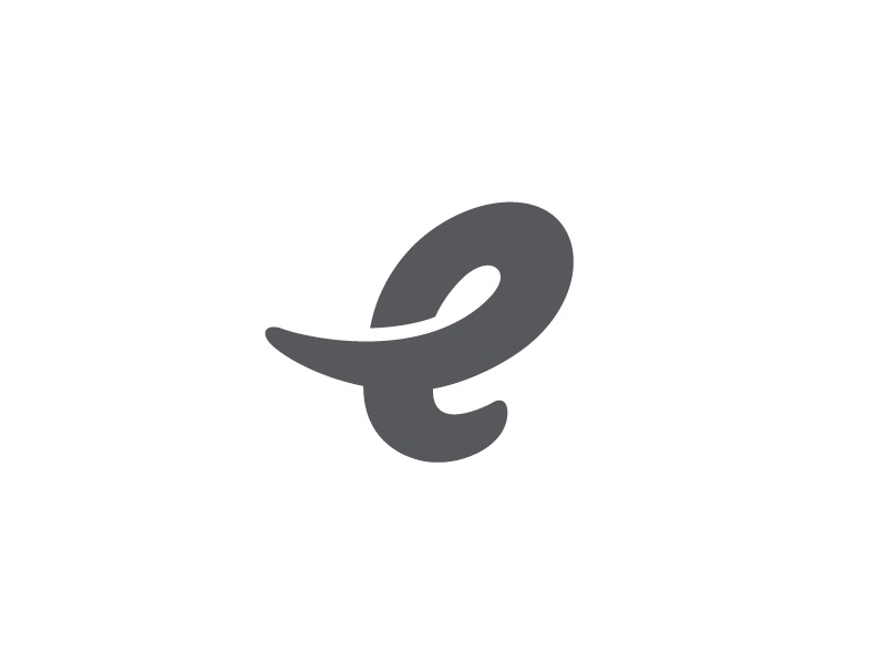 e for elephant by george bokhua on dribbble