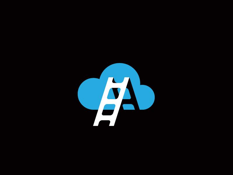 Stairway to Heaven  cloud logo mark stairs symbol sky
