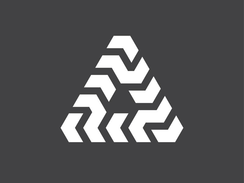 tri symbol branding identity mark logo