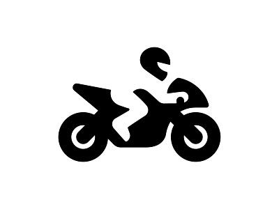 neg biker negative space branding identity symbol logotype logo design mark logo