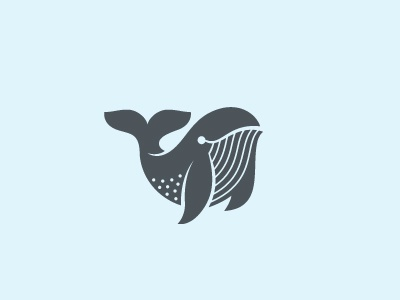 Whale logo milash mark symbol identity fish whale animal