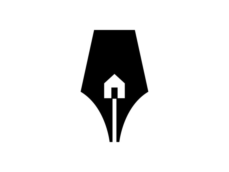 writers house symbol brand design branding identity mark logo