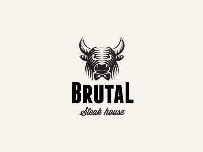 Bull logo milash mark george bokhua symbol identity animal bull