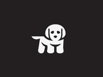 Puppy logo milash mark george bokhua symbol dog puppy animal