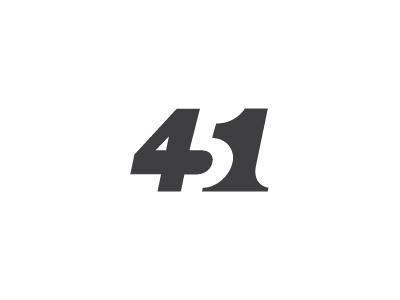 Fahrenheit 451 logo milash mark george bokhua symbol typography number numbers 4 5 1