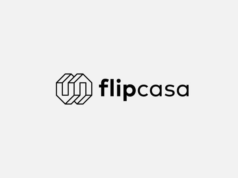 flipcasa brand identity branding typography logotype identity symbol mark logo