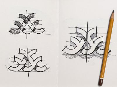 Abstraction Sketch logo milash mark george bokhua symbol sketch