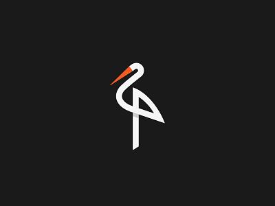 Stork logo milash mark george bokhua symbol stork bird