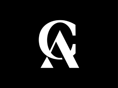 ca typography monogram design branding george bokhua logotype identity mark symbol logo