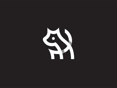 Doggy logo mark symbol identity design logotype illustration dog puppy