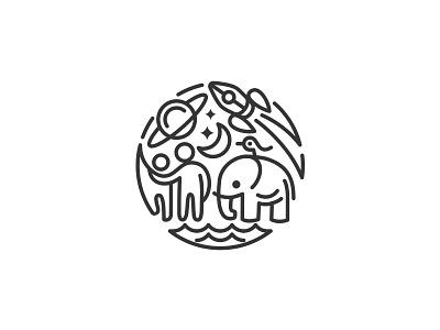 A Happy Place 2 logo mark symbol identity design logotype illustration