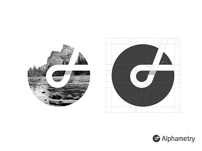 Alphametry logo mark symbol identity design logotype illustration alpha