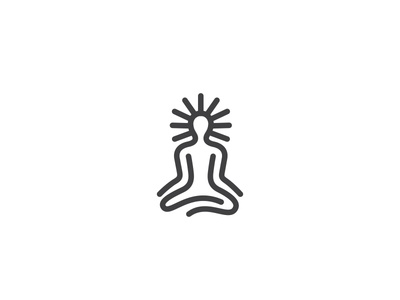 Zen Dude* logo mark symbol identity design logotype illustration zen