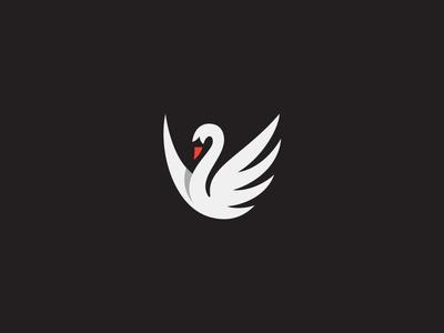 Old Swan logo mark symbol identity design logotype illustration bird swam animal fly wilderness