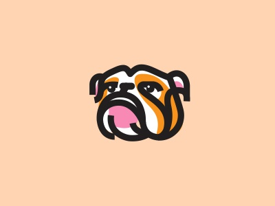 Bulldouga dog bulldog illustration logotype design identity symbol mark logo