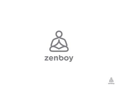 Zen zen illustration logotype design identity symbol mark logo