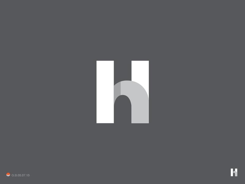 Hh Monogram h monogram illustration logotype design identity symbol mark logo