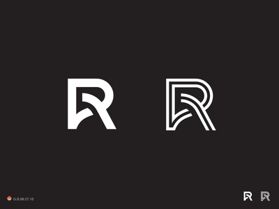 R's letterform letter monogram type illustration logotype design identity symbol mark logo